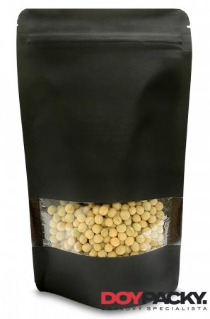 Doypack ZIP | KRAFT/PET/CPP - černý - Obsah: 500ml (130 × 225 + 70mm)