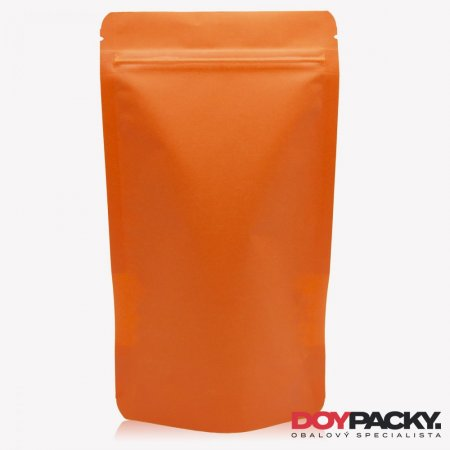 Doypack ZIP | KRAFT/PET/CPP - oranžový - Obsah: 500ml (130 × 225 + 70mm)