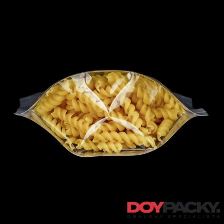 Doypack ZIP | čirý | PET/PE | Standard - Obsah: 100ml (85 × 140 + 50mm)